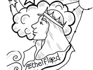 Æthelflæd, Warrior Queen of the Mercians. |  Copyright Joanna Scott