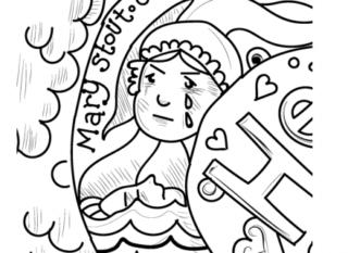 Drawing of Mary Stout imagined by Joanna Scott   Copyright Joanna Scott