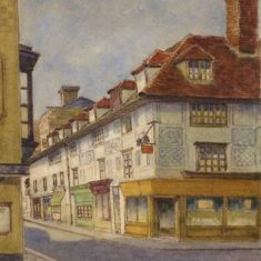 'Fore Street, Hertford' by H. A. Lingham, early C20th (ref. CV/HERTF/355) | Hertfordshire Archives & Local Studies