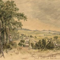 'Markyate Village from a Lane near the Windmill', 1863 (ref. CV/MARK/1) | Hertfordshire Archives & Local Studies