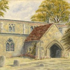 'Offley Church' by Gatty, 1925 (ref. CV/OFF/20) | Hertfordshire Archives & Local Studies