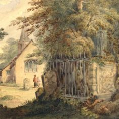 'Tewin Church and Lady Grimston's Tomb' by Benson, c.1880 (ref. CV/TEW/20) | Hertfordshire Archives & Local Studies