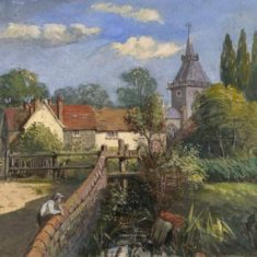 'Wheathampstead Village and Church' by J. Oke, 1850 (ref. CV/WHE/16)