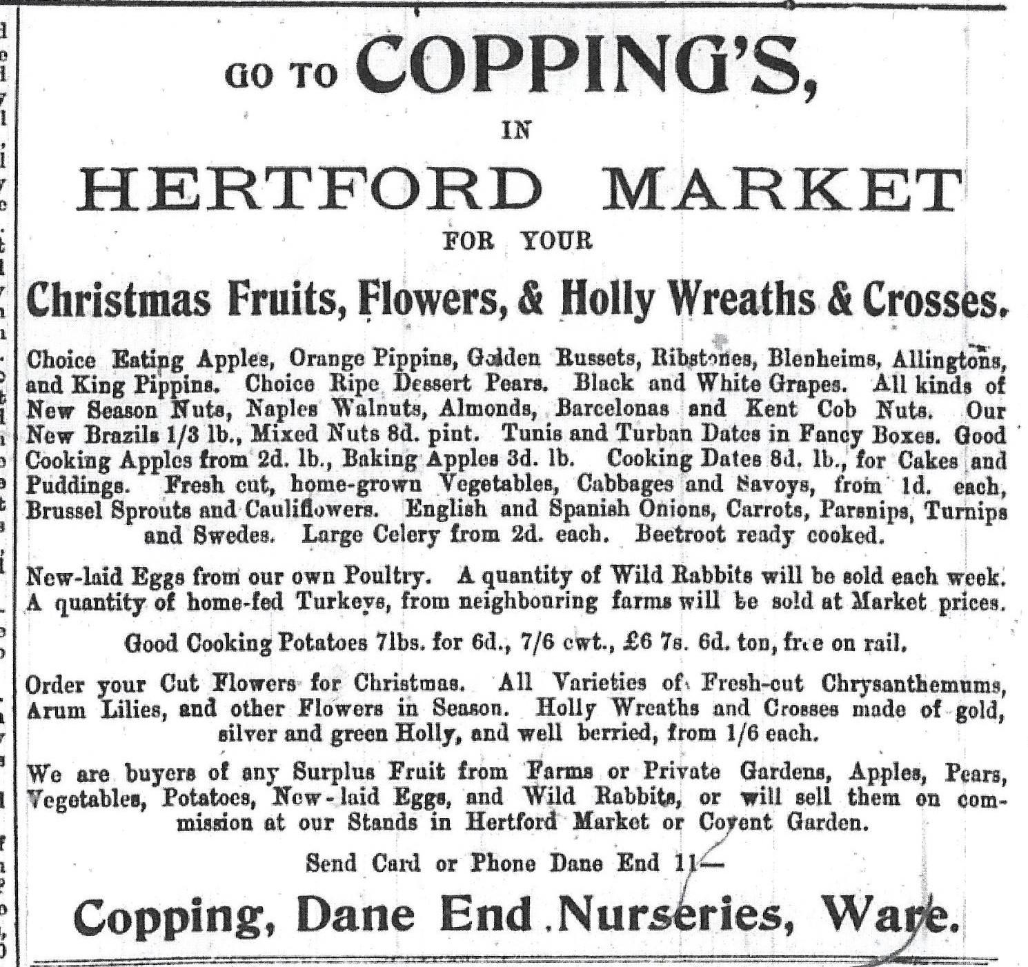 Christmas shopping 100 years ago