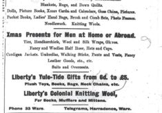 Christmas shopping 100 years ago
