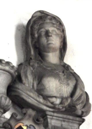 Laetitia Monson as depicted on her memorial in St Augustine's church. 2017 | Colin Wilson