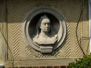 The image of Queen Victoria on the centre of the wall. 2016 | Colin Wilson