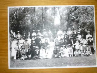 Hertingfordbury W I - thought to be the celebration of their 1st anniversary in 1920 with a trip to Rye Meads