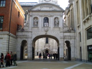 Temple Bar, facing St Paul's Cathedral from Paternoster Square. Aug 2010 | Colin Wilson