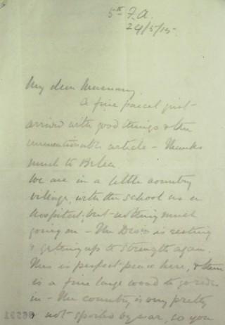 Letter 86991   Hertfordshire Archives & Local Studies