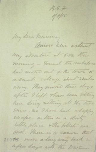 The Letters of Arthur Martin-Leake August 1915