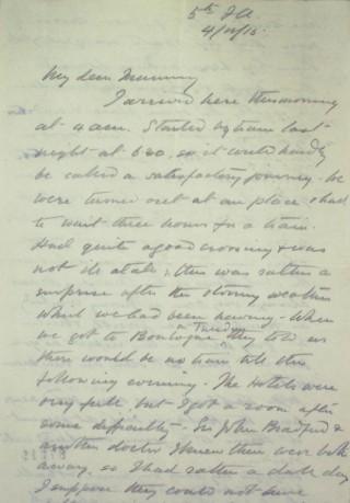 The Letters of Arthur Martin-Leake November 1915