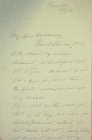 The Letters of Arthur Martin-Leake January 1916