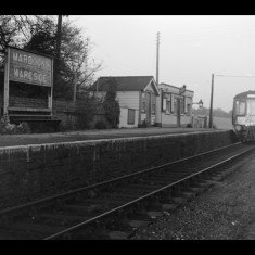 Diesel locomotive approaching Mardock; even such a tiny station was manned on the Buntingford Line. November 1963. | © Michael Covey-Crump
