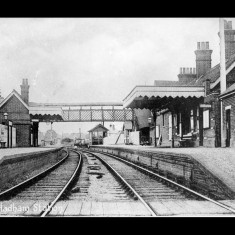 'Much Hadham Station', though officially 'Hadham' in the early twentieth century. | © The Lens of Sutton Association