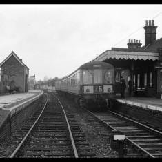 A Diesel Multiple Unit, St Margarets-bound, c1960. | © Michael Covey-Crump
