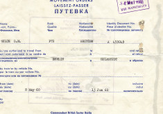 Berlin to Helmstedt Movement Order