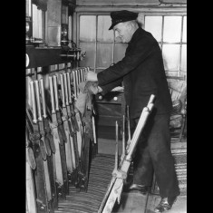Signalman on the Buntingford line, possibly in the 1950s. | Lent by Stephen Ruff
