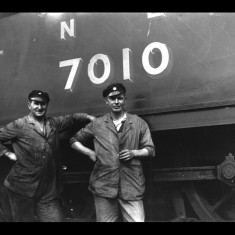Locomotive crew at Buntingford, between the Wars. | Lent by Stephen Ruff
