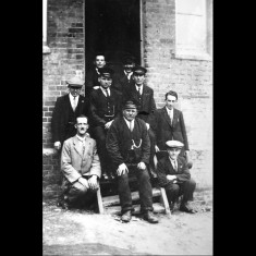 Station staff at Buntingford, early twentieth century. | Lent by Stephen Ruff