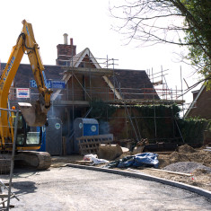 Buntingford Station building under renovation in 2010. | © St Albans Museums