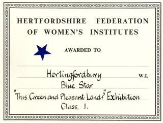The certificate awarded to Hertingfordbury WI | Credit: Hertingfordbury WI