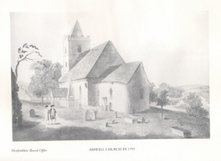 Amwell Church in 1793 | Hertfordshire Record Office