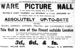 Advert in The Mercury, 1911 | Hertfordshire Archives & Local Studies