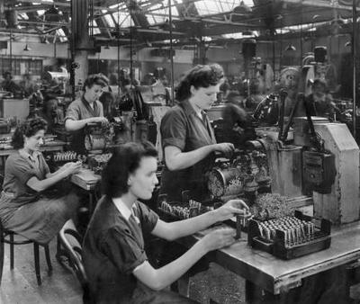 Women working in the shell department at Ballito during the war | St Albans Museums