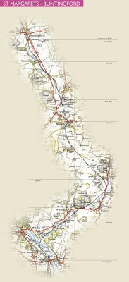 Click to enlarge this route map | © Stephen Wragg 2010