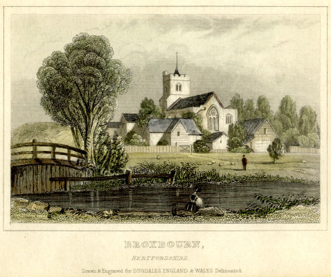 Broxbournre Parish Church | drawn for Dugdales, England & Wales