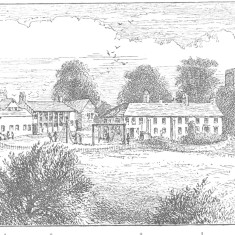 The Boys' Farm Home c 1890 | Left to right - playroom, accommodation, classroom, extended former farmhouse and the parish church of St Mary the Virgin