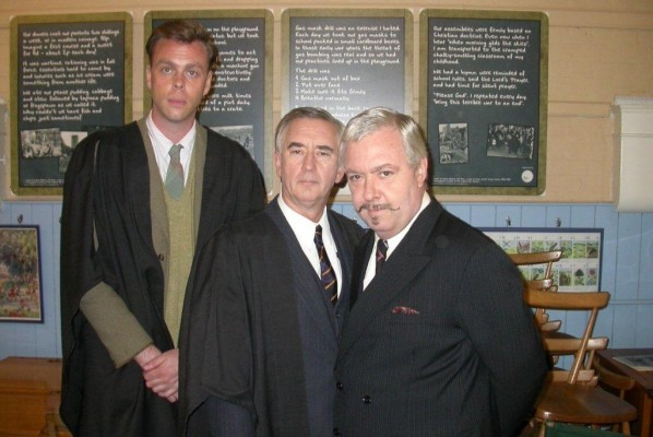 Bruce MacKinnon as teacher Mr Attwater, Denis Lawson as Mr Marks the Headmaster, and John Sessions as Mr Wellbecker | Terry Ransome