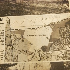 Map of Forster Country in newspaper