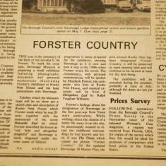 Newspaper article on Stevenage Museum's centenary event