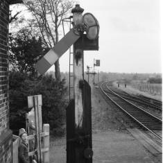Signal at Hadham station, around 1960. | © Michael Covey-Crump