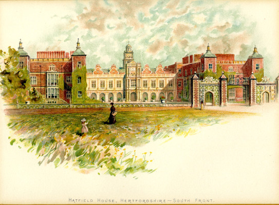 Hatfield House, South Front, 1880