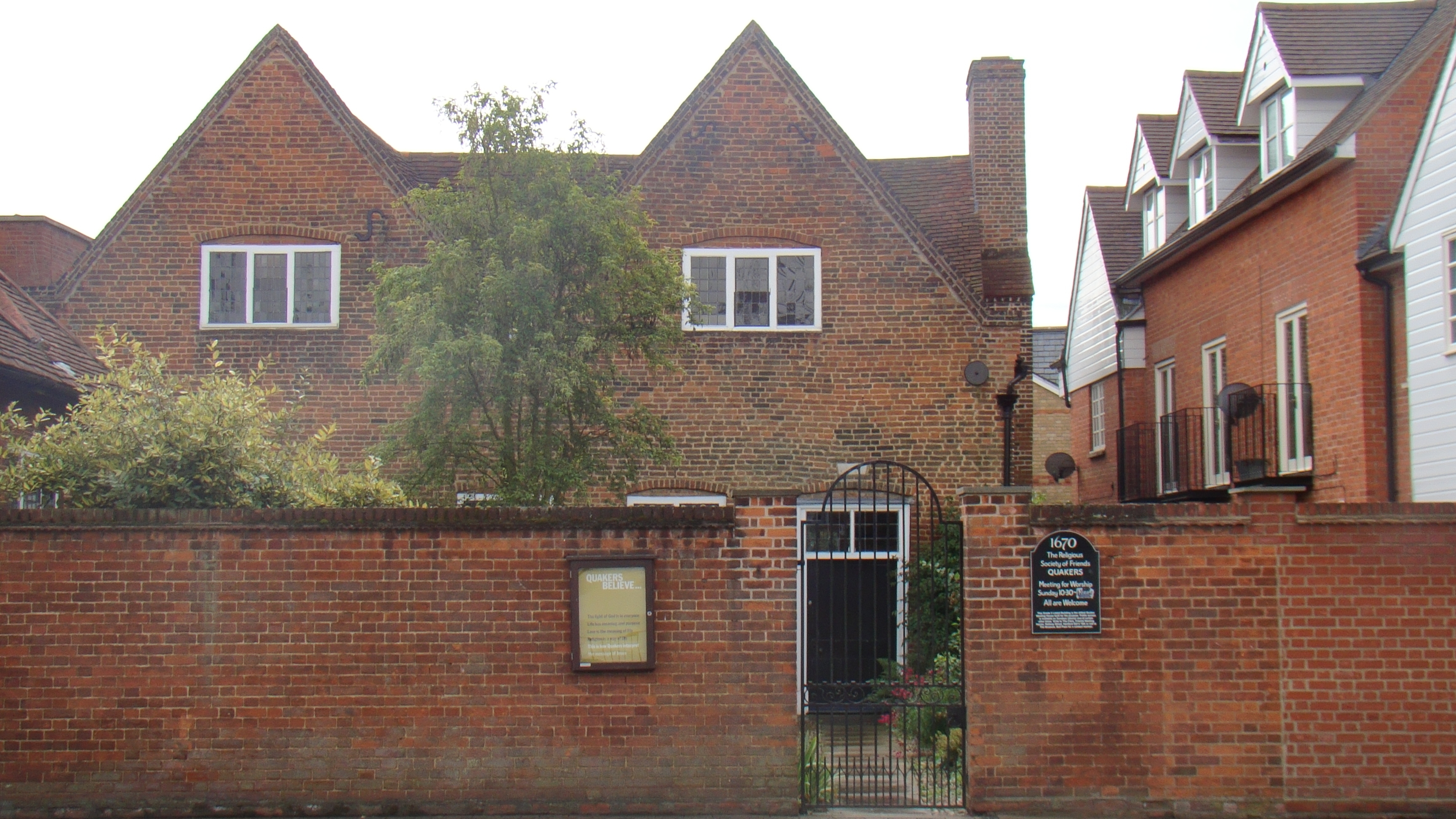 The famous Hertford Meeting House; the oldest of its kind in the world