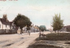 Stevenage High Street in Edwardian Times