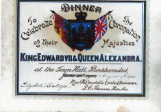 Invitation to Coronation dinner 1902