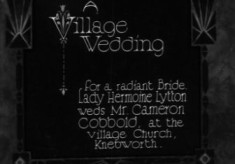 Knebworth Village Wedding, 1930