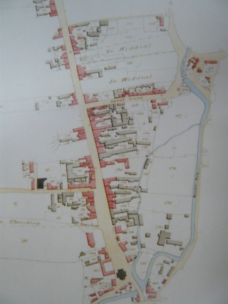 Plan of Buntingford from the Layston tithe map, 1838 | (Hertfordshire Archives DSA4/65/2)