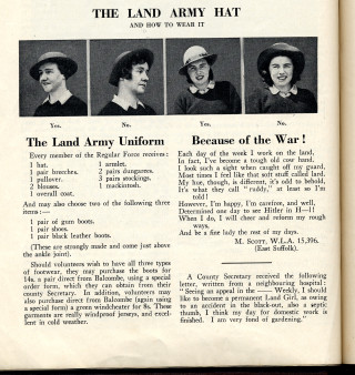 The Land Girl Magazine, August 1940