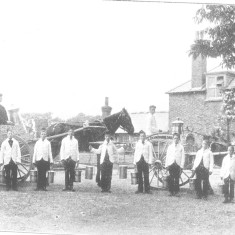 Boys provided a service delivering their milk around the neighbourhood