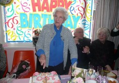 A 100th birthday party