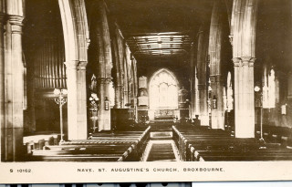 St Augustine's Church nave, undated | Hertfordshire Archives & Local Studies