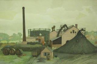 First Garden City Gasworks by Evelyn Ince | Letchworth Museum and Art Gallery (North Hertfordshire Museum Service)