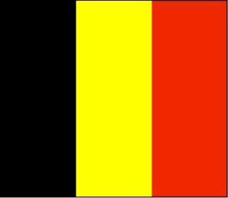 The Belgian national flag.