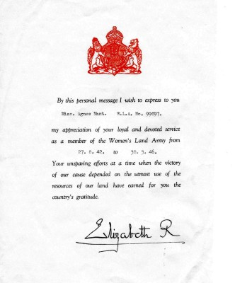 Letter of thanks from the Queen