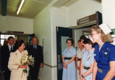 Princess Margaret's visit to Hertford County Hospital